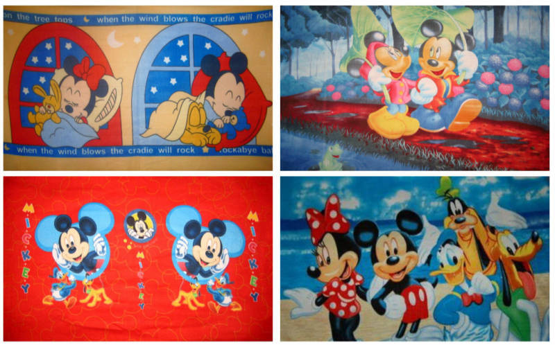 Disney Mickey Minnie Mouse Fleece Throw Panel Blanket