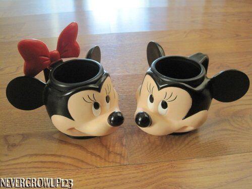 Disney Mickey Minnie Mouse Mugs Cups EUC