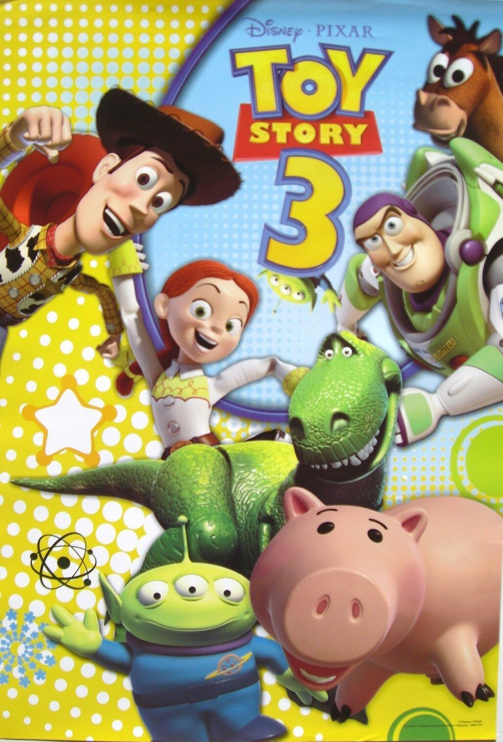 DISNEY/PIXAR U0026quot;TOY STORY 3u0026quot; POSTER - Woody Buzz U0026 Cast Of Characters All Smiling | EBay
