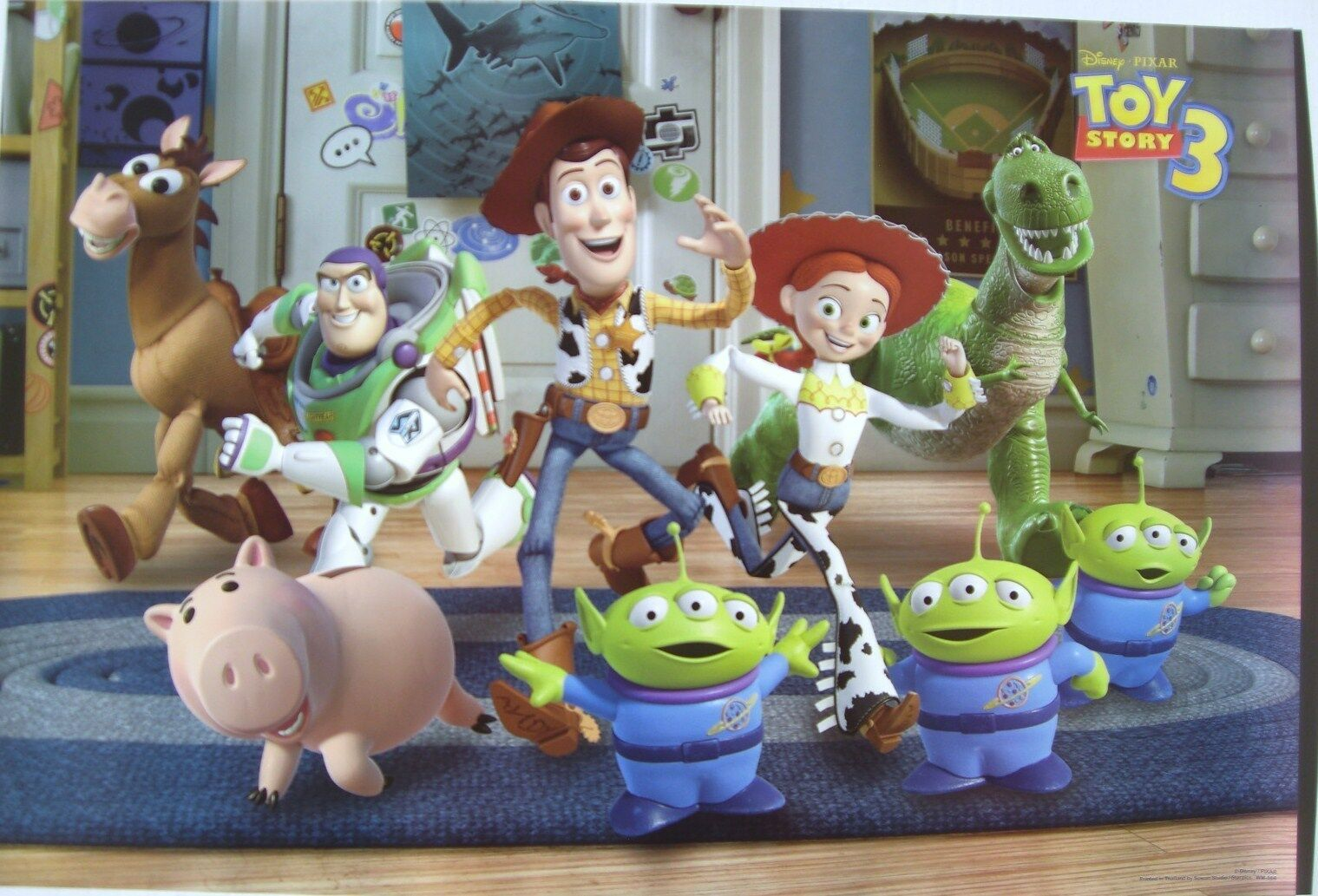 """Disney Pixar """"TOY Story 3"""" Poster Woody Buzz Characters ..."""