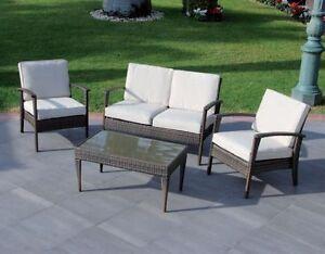 Divano divani poltrone poltrona esterni giardino vimini esterno tavolini sedie ebay - Divano in vimini ...