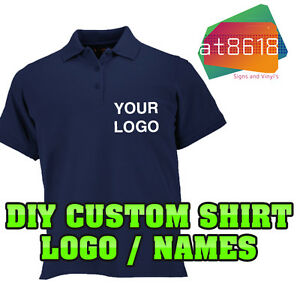 Custom printed t shirt ebay party invitations ideas for Corporate polo shirts with logo