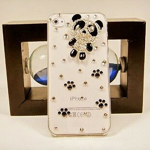 DIY Handmade Black Panda crystal clear Finished Case cover for iPhone 5 5G MR25 in Cell Phones & Accessories, Cell Phone Accessories, Cases, Covers & Skins | eBay