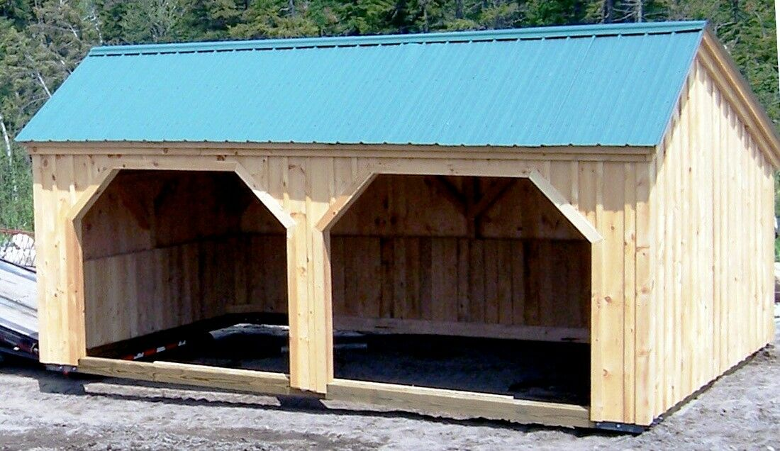 Diy Plans 12x20 Run In Storage Shed Donkey Goat Horse Atv Tractor Storage