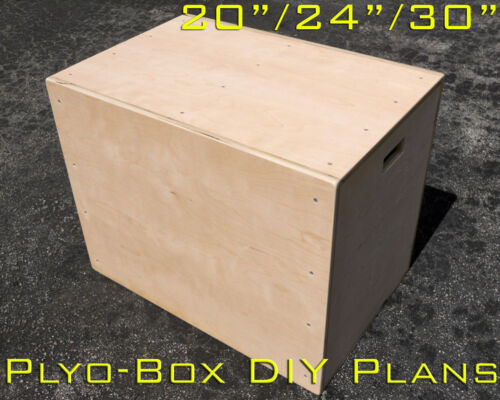 "DIY PLYO-BOX 20"" 24"" 30"" DETAILED PLANS CROSSFIT JUMP DIAGRAMS PLYWOOD EXERCISE in Sporting Goods, Exercise & Fitness, Gym, Workout & Yoga 