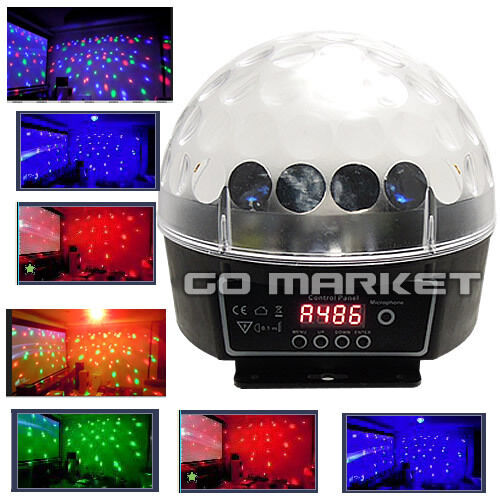 DMX512 6 LED Disco DJ Stage Lighting Digital LED RGB Crystal Ball Effect Light in Musical Instruments & Gear, Stage Lighting & Effects, Stage Lighting: Single Units | eBay
