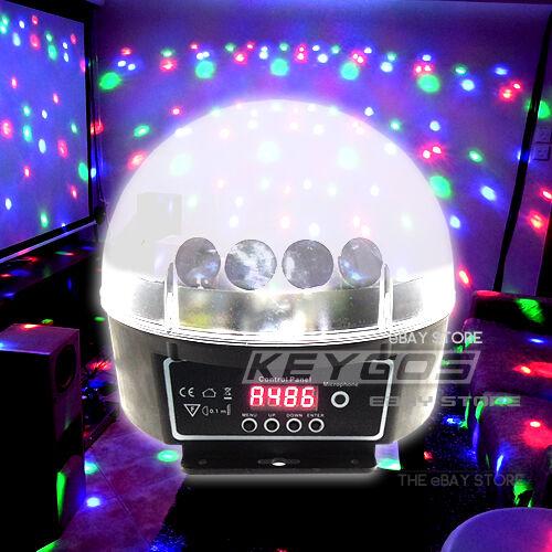 DMX512 6 LED Disco DJ Stage Lighting Digital LED RGB Crystal Ball Effect Light in Musical Instruments & Gear, Stage Lighting & Effects, Stage Lighting: Single Units | eBay
