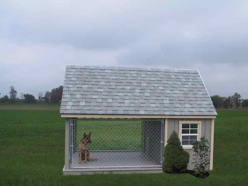 Heated dog kennels and runs home improvement for Dog run outdoor kennel house