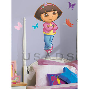 DORA-The-Explorer-XL-GIANT-Wandtattoo-Wandsticker-NEU-OVP-aus-USA