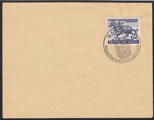 DR-Mi-Nr-814-auf-Blanko-Umschlag-mit-SST-Hamburg-grosser-Deutschlandpreis-1942