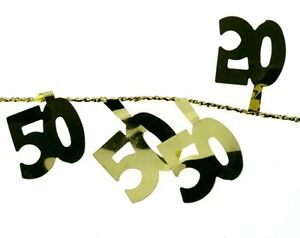 draht girlande 50 goldene hochzeit party tischdeko ebay. Black Bedroom Furniture Sets. Home Design Ideas