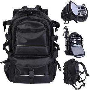 DSLR-Kamerarucksack-Rucksack-Tasche-Kameratasche-Fototasche-fuer-Canon-Nikon-Sony