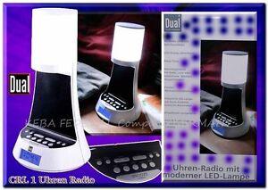 DUAL-CRL1-Uhren-Radiowecker-LED-Nacht-Tisch-Lampe-Dimmer-Snooze-LCD-PLL-AUX-B1