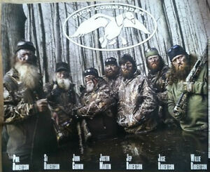 DYNASTY DUCK COMMANDER 2012 POSTER Willie SI Jase Phil Jep Robertson