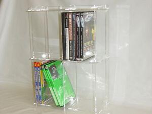 dvd regal aus acryl plexiglas ebay. Black Bedroom Furniture Sets. Home Design Ideas