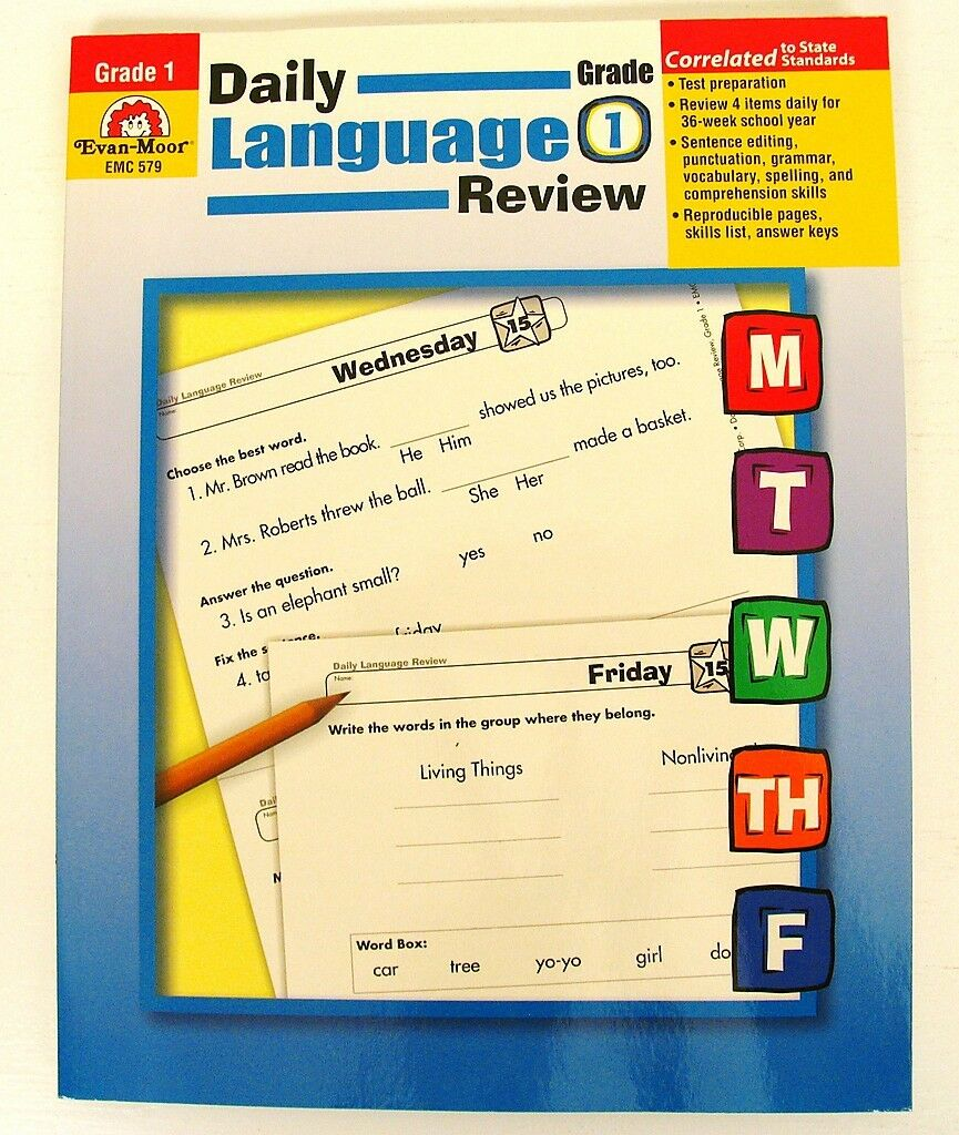 Daily Language Review Grade 1st Teacher Resource Lessons