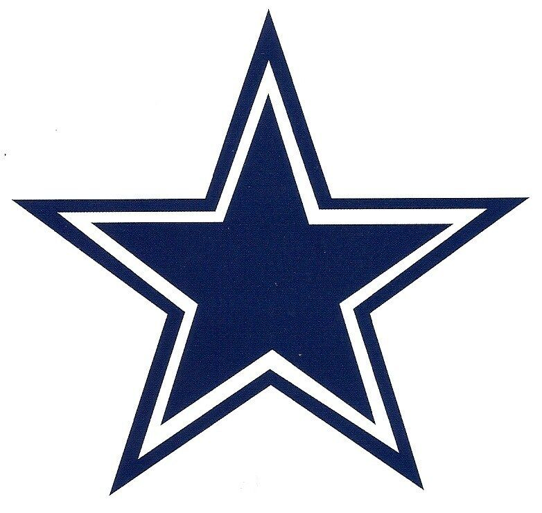 Dallas Cowboys Vinyl Decal Stickers 2 PK Great Gifts