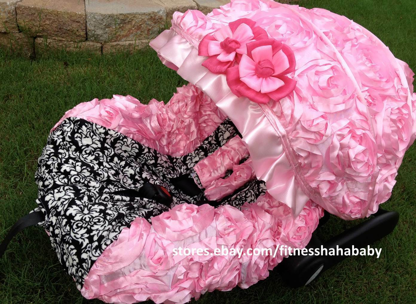 Infant Car Seat Cover Canopy Cover Set Fit Most Seat