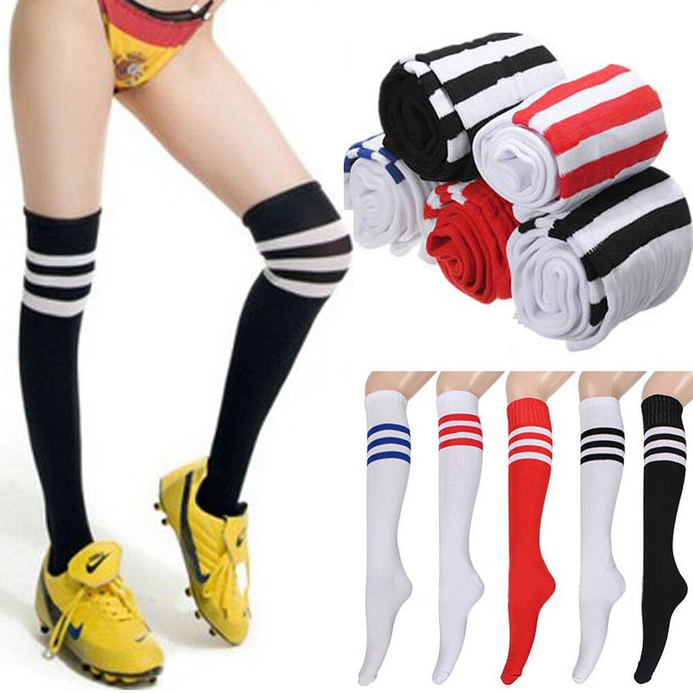 Fußball Socken Mädchen Lange Strümpfe Männer Frauen Baseball Gestreifte Socken