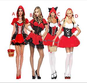 damen halloween karneval kost m m rchen rotk ppchen kleid outfit cosplay ebay. Black Bedroom Furniture Sets. Home Design Ideas