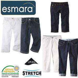 damen jeans esmara strech capri hosen sommerjeans gr 36 38 40 42 44 46 48 50 ebay. Black Bedroom Furniture Sets. Home Design Ideas