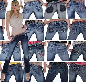 Damen-Jeans-Hose-Damenjeans-Damenhose-Bootcut-Schlaghose-18-Modelle-16q