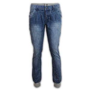 damen jeans hosen denim lang b ndchen gerafft freizeit. Black Bedroom Furniture Sets. Home Design Ideas