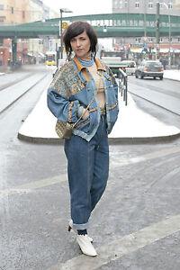 damen jeans jacke jacket 80er true vintage 80 s ddr. Black Bedroom Furniture Sets. Home Design Ideas