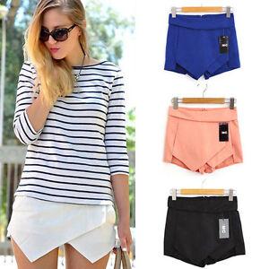 damen sexy hosenrock kurz mini hosen skirt minirock culottes hot pants shorts o ebay. Black Bedroom Furniture Sets. Home Design Ideas