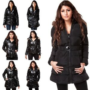 Damen-Steppmantel-Stepp-jacken-Winter-Mantel-Damen-Jacke-Glanz-Matt-AUSVERKAUF