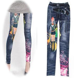 damen stretch enge leggings strumpfhosen jeans jeggings. Black Bedroom Furniture Sets. Home Design Ideas