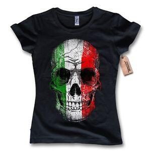 damen t shirt skull italy italien fu ball italia flagge. Black Bedroom Furniture Sets. Home Design Ideas