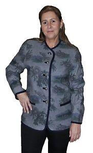 damen trachtenjacke janker trachten wolljacke grau b ware jw 1 ebay. Black Bedroom Furniture Sets. Home Design Ideas