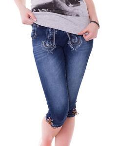 damen trachtenjeans trachten jeans kniebundhose trachtenhose hose marjo ebay. Black Bedroom Furniture Sets. Home Design Ideas