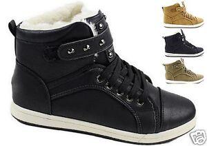 Damen-Winter-Sneaker-Boots-Turnschuhe-mit-Kunstfutter-Stiefeletten-Winterschuhe