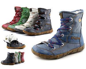 Damen-Winter-Stiefeletten-Boots-TMA-Gefuettert-Winterstiefelette-Neu-2082