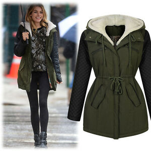 damen winterjacke mantel herbst parka kapuzen fleecejacket trenchcoat ebay. Black Bedroom Furniture Sets. Home Design Ideas