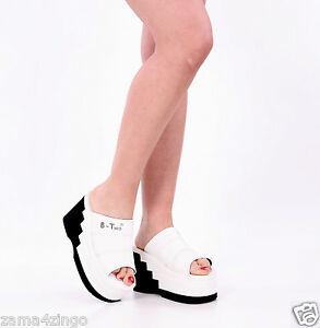damen high heels plateau pantoletten pantolette f r strand. Black Bedroom Furniture Sets. Home Design Ideas