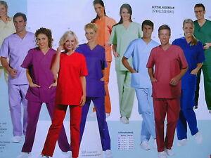 Damen-und-Herren-Schlupfjacke-Kasack-unisex-OP-Kasack-OP-Kleidung-Leiber