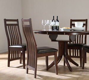 dark hudson java extending oak dining table and 4 6 chairs set