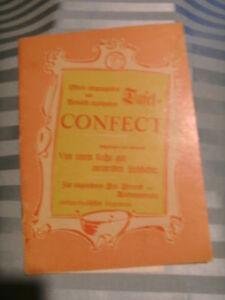 Das Tafelconfect Notenheft von 1957 - Hamburg, Deutschland - Das Tafelconfect Notenheft von 1957 - Hamburg, Deutschland