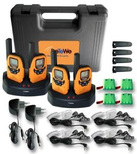 DeTeWe-Outdoor-PMR-8000-Funkgeraet-4er-Set-Quad-Case