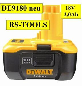DeWALT-Akku-DE-9180-18V-2-0Ah-Li-Ion-Nano-neu-Original-Akkuschrauber-DE-9181