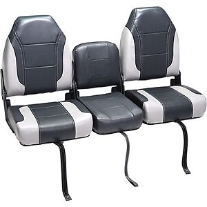 Deckmate 3 Piece 46 Bass Boat Bench Seats Set Charcaol Gray