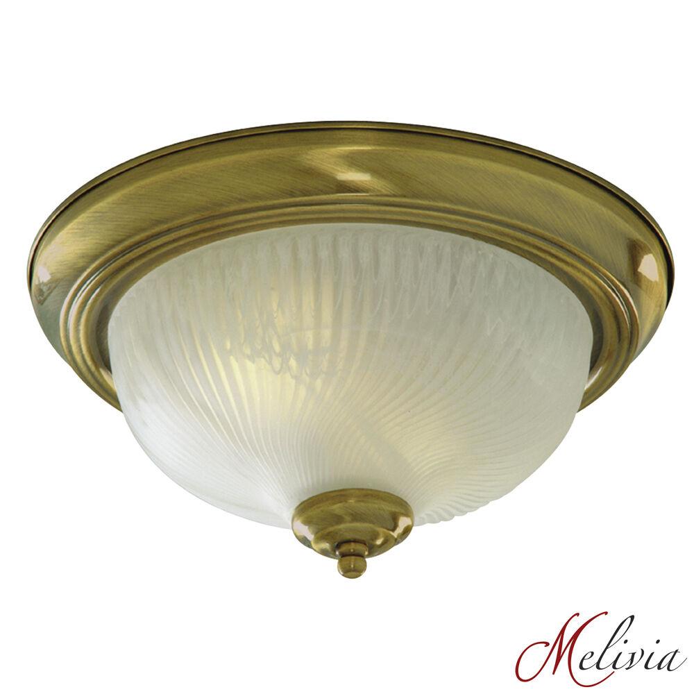 deckenlampe deckenleuchte antik messing gold wei glas. Black Bedroom Furniture Sets. Home Design Ideas
