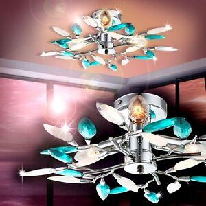 deckenlampe deckenleuchte leuchte bl tter t rkis beleuchtung spots strahler ebay. Black Bedroom Furniture Sets. Home Design Ideas