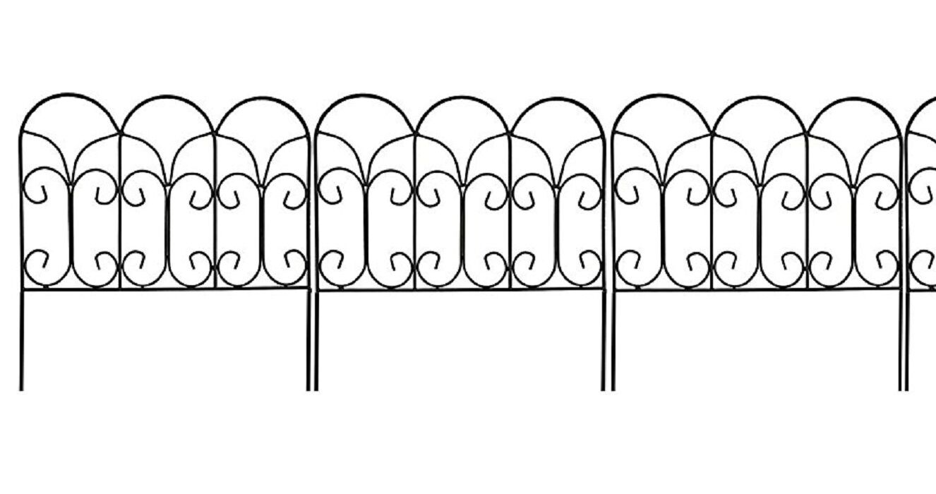 Decorative Garden Border Edging Wire Fence Panel Bed Flower Lawn Metal  Landscape
