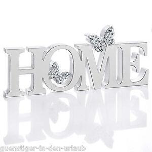 deko buchstaben home dekobuchstaben schriftzug mit schmetterlingen glitzer wei ebay. Black Bedroom Furniture Sets. Home Design Ideas