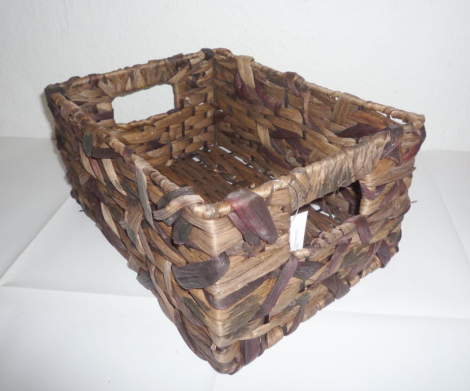 deko korb set 3 tlg dunkelbraun aus wasserhyazinthe aufbewahrungskorb neu ovp ebay. Black Bedroom Furniture Sets. Home Design Ideas