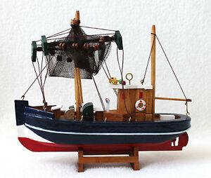 deko krabbenkutter 23x22cm holz kutter fischkutter schiff boot ebay. Black Bedroom Furniture Sets. Home Design Ideas